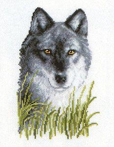 Loup qui attend de Vervaco - Animaux - Kit Broderie - Casa Cenina
