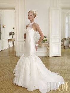 Wedding Dress by Pronuptia - 2014 Inexpensive Wedding Dresses, Elegant Wedding Gowns, Wedding Dresses 2014, Bridal Dresses, Bridal Closet, Wedding Dress Organza, Blush Bridal, Chiffon, Beautiful Bride