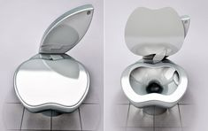 The sleek design, the impressive functionality, the distinctive logo - was it only a matter of time before Apple redesigned the humble toilet with the iPoo? The iPoo is literally a case of toilet humour and Belgrade designer Milos Paripovic makes the tongue-in-cheek claim his work isn't intentionally related to the Apple brand.