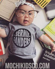 Make an educated choice. Bernie sanders tee available in kid and adult sizes in the shop!  #feelthebern #berniesanders2016 #ut4bernie #mochikids #toddlerlife #babylife #babystyle #hipsterbaby #berniesanders #babiesforbernie #babesforbernie