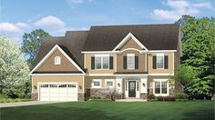 Charming Colonial With Bonus HWBDO77513 Colonial from BuilderHousePlans.com
