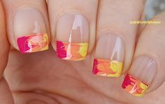 Needle & Scotch Tape #Summer #Frenchmanicure / https://www.youtube.com/user/LifeWorldWomen