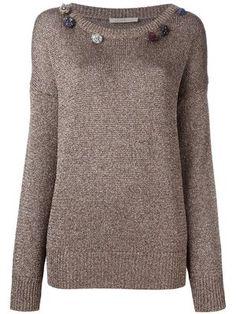Shop Junya Watanabe Comme Des Garçons geometric pattern sweater.