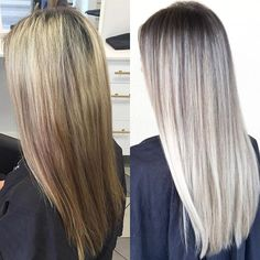 Before | After This transformation took two appointments. With the help of @olaplex we were able to get her to a brighter blonde while keeping her hair healthy