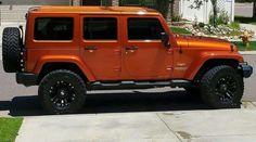 Orange Wrangler Unlimited