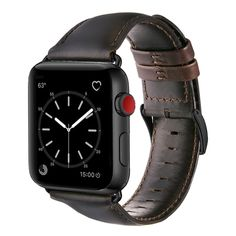 Amazon.com: Apple Watch Band 42mm, OUHENG Retro Vintage Genuine Leather iWatch Strap Replacement for Apple Watch Series 3 Series 2 Series 1, Dark Brown with Black Adapter: Cell Phones & Accessories