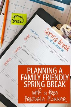 Planning a family friendly spring break vacation? Use this tips plus a FREE printable planning page for the best trip ever! Vacation Planning | Spring Break | Family Travel | Travel Planner | Family Vacation #OcalaMarion #ad