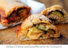 Rouleau Pizza à l'aubergine parmesan | Art dans la cuisine