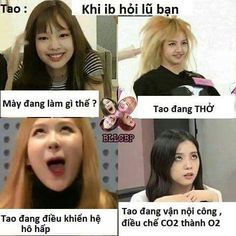 Read BlackPink from the story Ảnh chế Kpop by --Linh_ (love myself) with reads. Funny Picture Quotes, Funny Photos, Funny Images, Blackpink Funny, The Funny, Crazy Funny, Blackpink Memes, Jokes, Kids Canvas Art