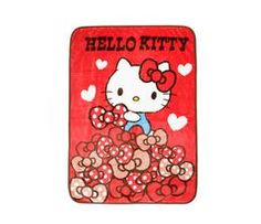 9417a8406f Check out Hello Kitty Throw Blanket  Polka Dot Bows from Sanrio