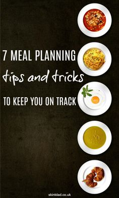 Healthy Living Tips 7 Meal Planning Tips and Tricks to Keep You on Track - You've got the meal plan down to a T but boredom sets in or things just start going wrong! These meal planning tips and tricks should help keep you on track Frugal Meals, Budget Meals, Freezer Meals, Easy Meals, Budget Recipes, Planning Budget, Menu Planning, Healthy Living Tips, Frugal Living Tips