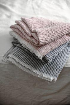 MAIJA linen-tencel blankets, woven by Lapuan Kankurit in Finland