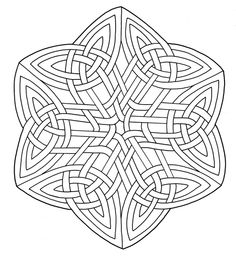 Celtic Knotwork Coloring page