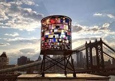 watertower' by tom fruin, 2012  found plexiglas, steel, bolts  25 x 10 x 10 feet  images by robert banat courtesy the artist