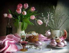 dreamies.de Arte Floral, Jpg, Happy Easter, Beautiful Images, Still Life, Easter Eggs, Glass Vase, Tea Cups, Valentines