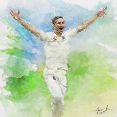 Chris Woakes - Ashes 2019 by realdealluk on DeviantArt Jack Leach, Ashes Cricket, Stuart Broad, Ben Stokes, David Warner, Steve Smith, Live Cricket, Art Drawings