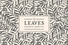 Leaves exotic pattern by Maria Galybina on @creativemarket