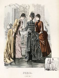 Fabulous plaid dress!  Freja 1887