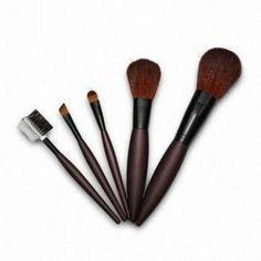 A good make-up brush set - this one has all the brushes I'd need (esp. the eyebrown/eylash one and the big blush one)  A set like this one would probably be $8-$12; Target has some nice ones.