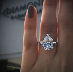 Platinum 5.28 pear shape diamond engagement ring ($202,000)