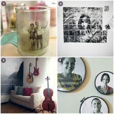 Inspiration of the Week: Photo Projects - 52 Weeks Project Diy Arts And Crafts, Easy Crafts, Diy Souvenirs, Photo Projects, Wood Projects, Photo Transfer, Stuff To Do, Cool Stuff, Photography Projects