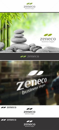Zen Eco Leafs ¨C Simple and Elegant, Clean and Clear Nature Logo ¨CAn excellent logo template highly suitable for spa and therapy bu