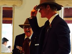 """""""Prince Harry was given an iconic Akubra hat by a group of Australian WWI widows, in return he delighted 91-year-old Ruth Littler by giving her a peck on the cheek. """""""