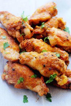 Mango Jerk Wings ~ http://www.grandbaby-cakes.com