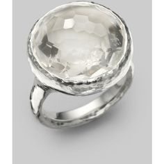 IPPOLITA Clear Quartz & Sterling Silver Ring - Polyvore