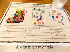 A day in first grade: Particles