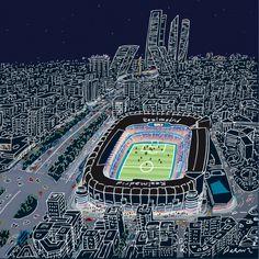 Estadio Santiago Bernabeu (Real Madrid).