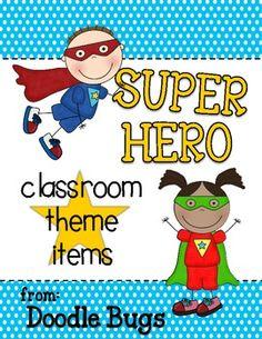 Super Hero Theme Items {Calendar Cards, Desk Plates, etc!}