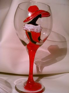 Una fabulosa Copa de vino para comer y por SugarLumpCreations