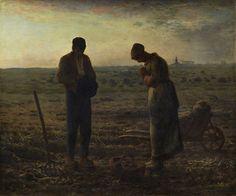 Escuela de Barbizon. El Ángelus de JEAN-FRANÇOIS MILLET - El Ángelus (Museo de Orsay, 1857-1859. Óleo sobre lienzo, 55.5 x 66 cm) -