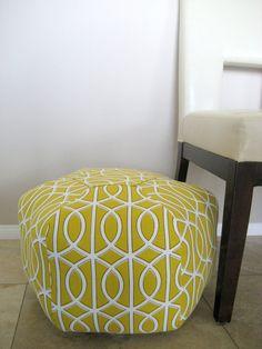 24 Ottoman Pouf Floor Pillow Waverly Cross Section by aletafae ...