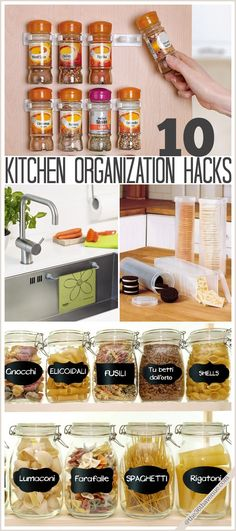 Bring some order to your kitchen with these Kitchen Organization Hacks at the36thavenue.com
