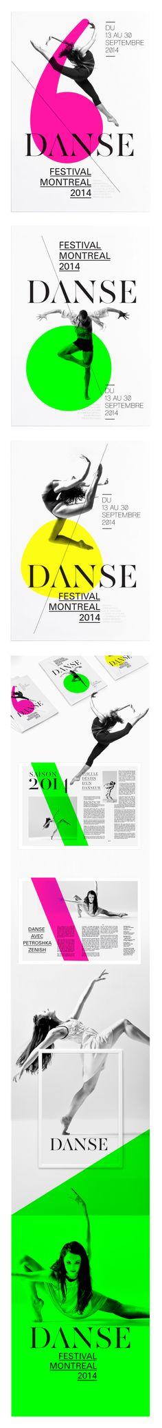 s/w bilder und Farbflächen - FESTIVAL DE DANSE DE MONTREAL by THEBAULT JULIEN, via Behance