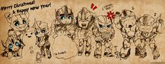 Merry Christmas! by NovaOptima.deviantart.com on @deviantART. They're all so cute! I love how Optimus is happy that Smokescreen is happy in a father like way! :D