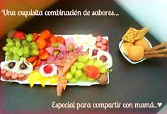Una exquisita tabla de sabores para mamá  Bs. 270 en vez de Bs. 450 por una tabla de variedad de jamones, quesos y frutas + regalo en GiftMe Detalles