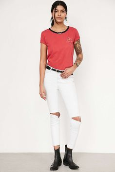 Truly Madly Deeply Embroidered State Tee