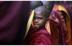"""Buddhist monks are seen in Colombo, Sri Lanka."""
