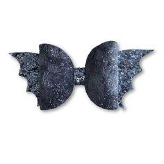 Glitter Bat Bow Headband or Clip