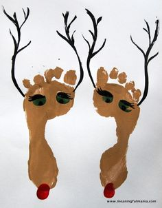 These reindeer foot prints were so easy, and the kids absolutely loved getting their feet painted. I love the results too. I was inspired, once again, by Pinterest. This time it led me to the lovely site of Life in Motion Photography. She did a fancier version on an artist matte. We ended up just using a sturdy piece of white stock paper. The first step is to paint their… {Read More}