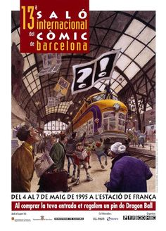 - 1995 13 Salon Internacional del Cómic de Barcelona, 6.500 m2 (85.000 vst.)  17.12.2016 CdC