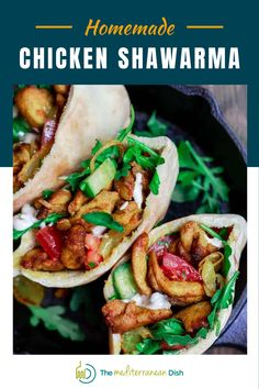 This Homemade Chicken Shawarma is going to be a go to for you and your family! Packed with amazing flavors that will make you want more. It is a perfect weeknight dinner idea!