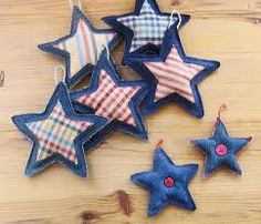 como hacer una estrella de navidad en tela paso a paso - Buscar con Google ornaments for tree