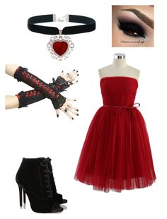 """""""Dance with me? (Ayato/Diabolik Lovers)"""" by crazykat2002 ❤ liked on Polyvore featuring Chicwish and Tabitha Simmons"""