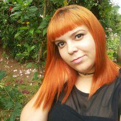 Ruivo acobreado cor&ton 7.43+10 no sol ruiva ginger cabelo ruivo acobreado franjinha red hair