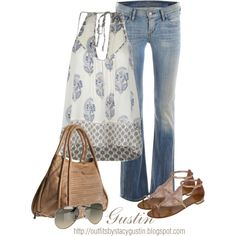 boho casual, created by stacy-gustin on Polyvore