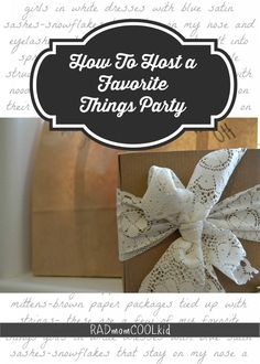 Favorite Things Party with FREE Printables www.radmomcoolkid.com #favoritethingsparty #myfavoritethingsparty #partyideas